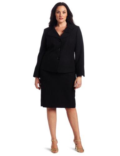 Lesuit Women's Plus-Size Novelty Bow Skirt Suit