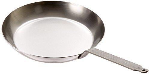 Matfer Bourgeat 062005 Black Steel Round Frying Pan, 11 7/8-
