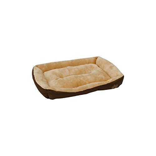 ALEKO® PB01 Soft Comfy Pet Mat Plush Cushion Bed for Dogs and Cats 23X16X3 Inches, Beige