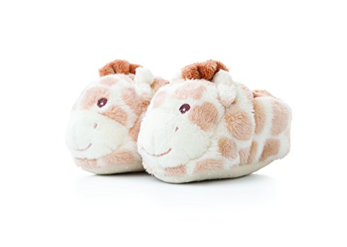 Aurora World Gigi Collection Pantofole in peluche a forma di giraffa (colore: arancione chiaro/marrone chiaro)