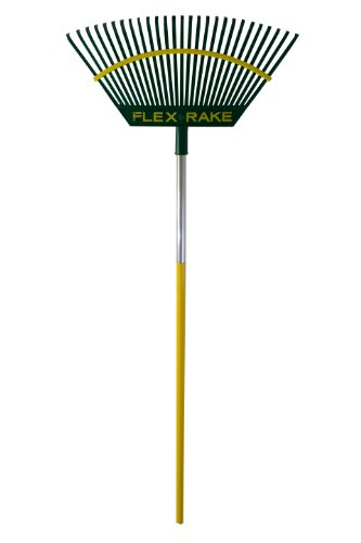 Flexrake 2A Lawn Rake 21-Inch Poly Head with 48-Inch Aluminum Handle