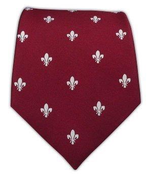 100% Silk Woven Burgundy Fleur de Lis Tie at Amazon Men's Clothing