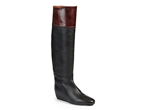 Stivali alti Lanvin in pelle nero con tacco nascosto - Codice modello: FWCSFBH5HOSAA15 - Taglia: 35 IT
