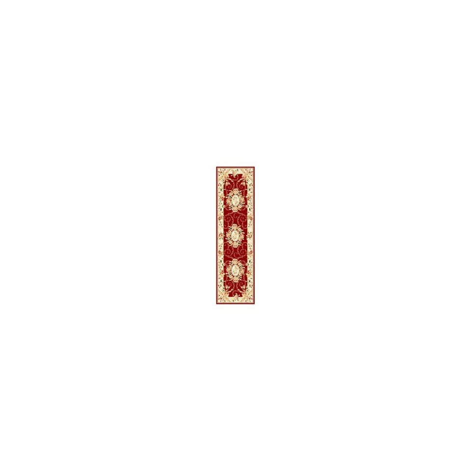Safavieh Lyndhurst Collection LNH328C Red and Ivory Area Runner, 2 Feet 3 Inch by 6 Feet
