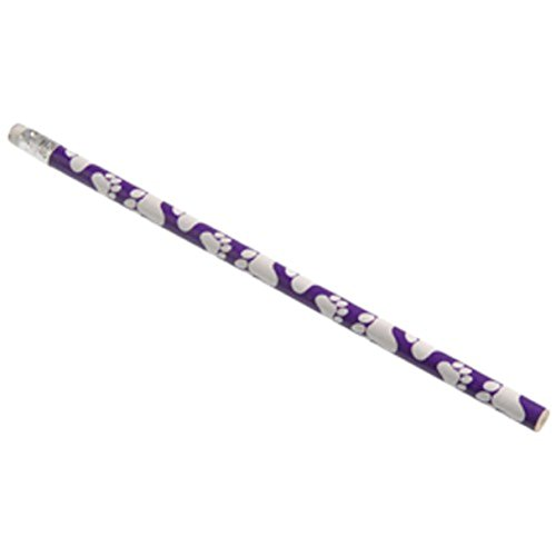 Dozen Paw Print Design Purple & White Wooden #2 Pencils - 7.5""
