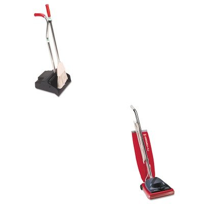 Kiteuksc684Fungedpbr - Value Kit - Ergo Dustpan/Broom, 12Quot; Wide (Ungedpbr) And Commercial Vacuum Cleaner, 16Quot; (Euksc684F) front-614273