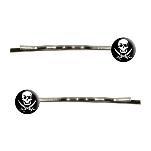 [Graphics and More Pirate Bobby Pins Barrettes Hair Styling Clips] (Pirate Hair)
