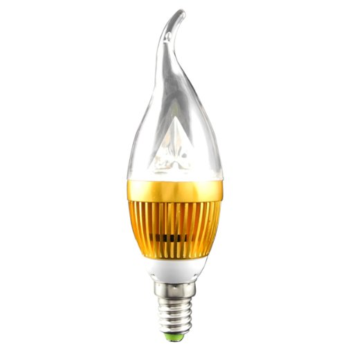 MENGS® E14 3W LED Kerze wie Lampe Birne 3x 1W SMD LEDs LED Leuchtmittel mit Aluminium-Karosserie (Kaltweiß 6000K, 280Lumen, 60º Abstrahlwinkel, E14 Sockel 85V - 230V AC - Ø40×133mm) Energiespar Licht