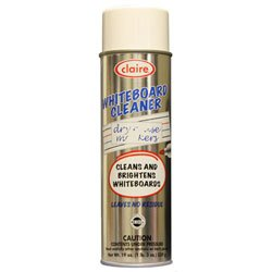 Claire 074 Whiteboard Cleaner & Dry Erase Board Cleaner, Industrial-Strength White Board Cleaner -- Unlike Whimpy Ones This Blasts ALL Black & Shadow Off