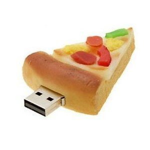 High Quality 8 GB Food Pizza shape USB Flash drive from T &  J