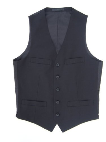 Mens Black 5 Button Waistcoat Vest