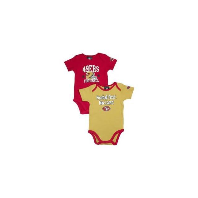 NFL San Francisco 49Ers Boys Short Sleeve Bodysuit, 3 6 Months, Red