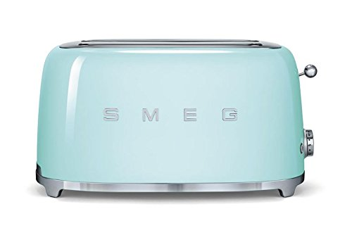 Smeg TSF02PGUS 50's Retro Style Aesthetic 4 Slice Toaster, Pastel Green (4 Slice Green Toaster compare prices)