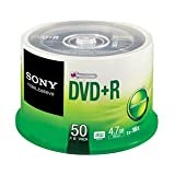 SONY 4.7GB/120min 1X-16X BLANK DVD Media DVD-R Pack-50 Spindle