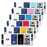 HP 83 UV Ink Cartridge,For Designjet 5000/5000PS,Lt. Cyan