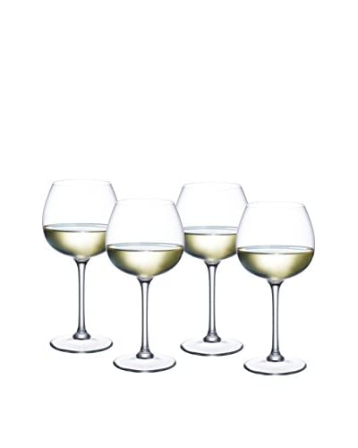 Villeroy & Boch Set of 4 Purismo 12-Oz. White Wine Goblets, Clear