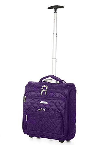 Aerolite 16 Quot Carry On Under Seat Wheeled Trolley Luggage Bag For