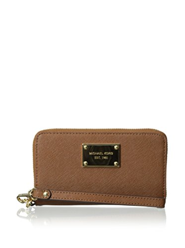 Michael Michael Kors Womens Zip Around Phone Case, Luggage, One Size
