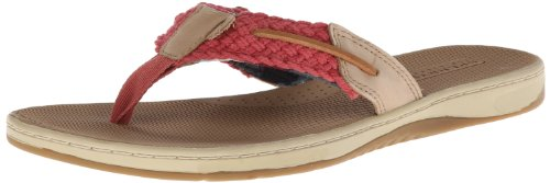 Sperry Top-Sider Women's Parrotfish Washed Espadrille Sandal,Red,6 M US