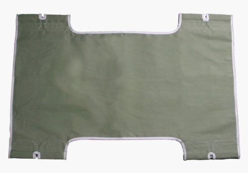 Patient Lift Sling With Commode Cutout Option Canvas/Solid front-1064058