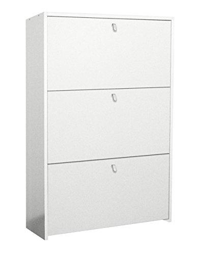 Scarpiera ECO 3 cassetti cm 67 - Doppia Profondità - bianca