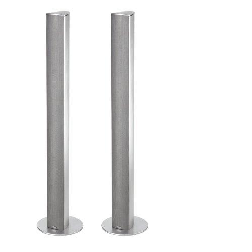 Magnat-Needle-Alu-Super-Tower-Paar-schlanker-Alu-gebrsteter-Design-Lautsprecher-silber