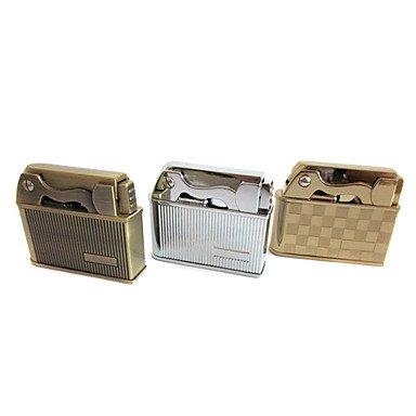 Xs Old Style Leather+Metal Windproof Kerosene Lighter