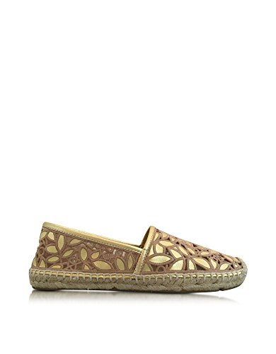 TORY BURCH WOMENS 5115875015719 GOLD LEATHER ESPADRILLES