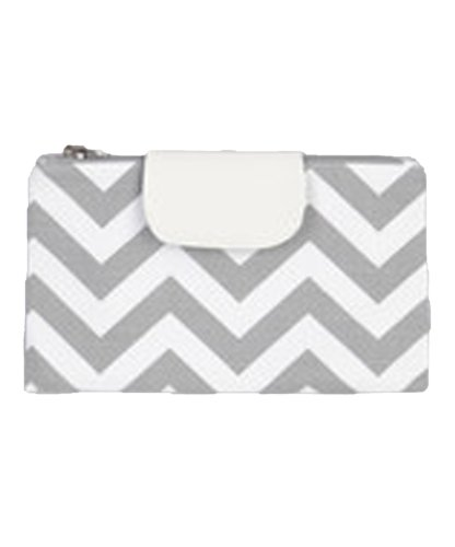 Caught Ya Lookin' Diaper Clutch, Gray Chevron