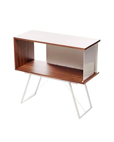 nine6 City Life Module Credenza, Walnut/White