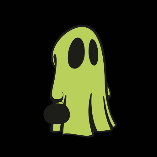 12 Repositionable Glow In The Dark Halloween Cute Ghost Kids Wall Stickers