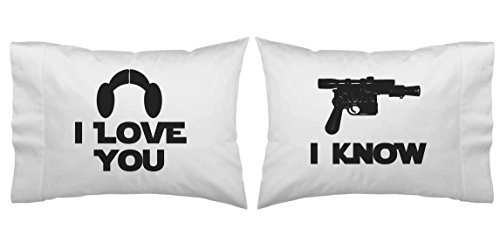 Star Wars Inspire I Love You, I Know Blaster Pillowcase Set