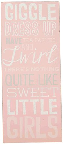 Mud Pie Plaque, Little Girls, Pink - 1