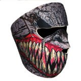 Urparcel New Half Face Motorcycle Snowmobile Snowboard Ski Balaclava Face Mask Fang Black