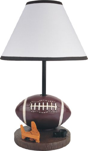 """15.75""""H Poly Resin Football Table/Desk Lamp - 31604Ft front-464861"""