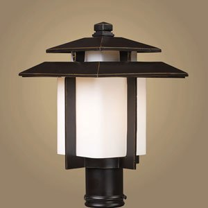 Click to read our review of Outdoor Post Lighting: ELK Lighting Kanso 10