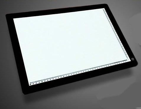 LED搭載 ブライトボード A4 A3サイズ 描ける 写せる 書ける 測れる 夜間のメモ 写真の模写 子供 2色 SY-A4BT (A3 ブラック)