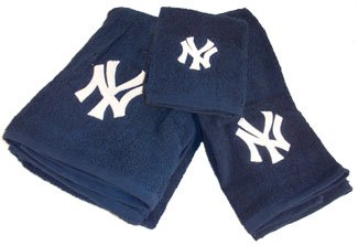 Interior design ideas new york yankees mlb 3 piece bath for Yankees bathroom decor