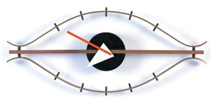 George Nelson Style Eye Wall Clock