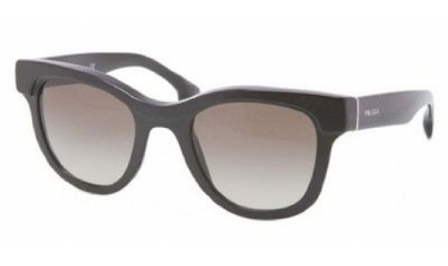 prada Prada PR27PS Sunglasses-1AB/4M1 Black (Green Gradient Lens)-49mm