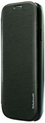 ZENUS Galaxy S4 SC-04E ケース Walnutt Flip Jacket モノブラック フリップタイプ W2069GS4