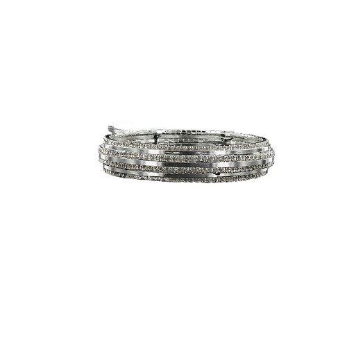 JOA Rhinestone Accent Bangle Bracelet #040917