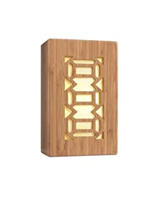 Woodbridge Lighting 14042WHT-W3A4BB Light House Collection 2-Light Wall Sconce, 7.5-inch by 12-inch by 4-inch, Triune Bamboo Shade