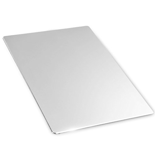 HOOSUN Gaming Aluminium Mouse Pad,Non-slip Flannel Base & Micro Sand Blasting Aluminium Surface for Fast and Accurate Control-Compatible Any Dpi Speed & Optical Laser Mice or Desktop Color-Silver (Aluminum Mouse Pad compare prices)