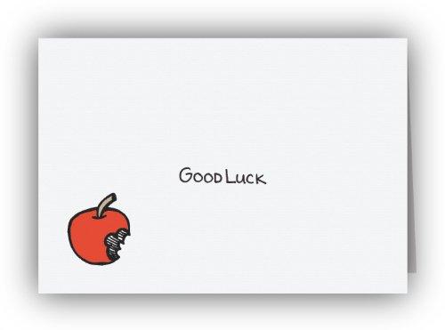 Bitten Apple Good Luck Cards