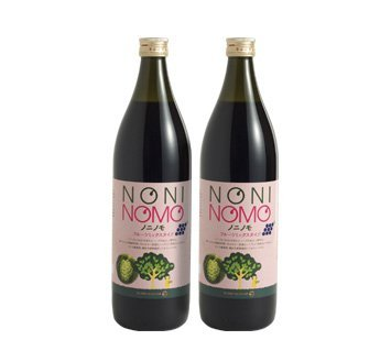完熟ノニ果実 生しぼりのフレッシュノニジュースに自然の果実をプラス ほんのり甘いミックス ノニノモ フルーツミックスタイプ 2本
