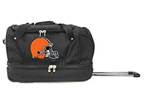 NFL Cleveland Browns Rolling Soft Luggage, Black, 22-Inch