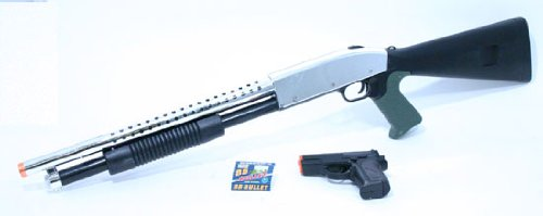 Shotgun and Pistol Black Airsoft Package airsoft