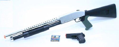 Shotgun and Pistol Black Airsoft Package airsoft