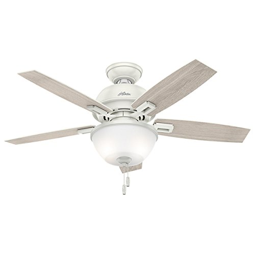 Hunter Fan Donegan Collection Fresh White/Light Grey 44-inch 5 Reversible Blades Ceiling Fan (Hunter 50 Inch Ceiling Fan compare prices)